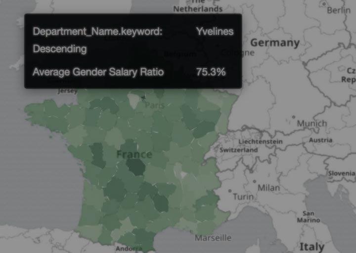 Visualizing France Salary Data with Region Maps in Kibana