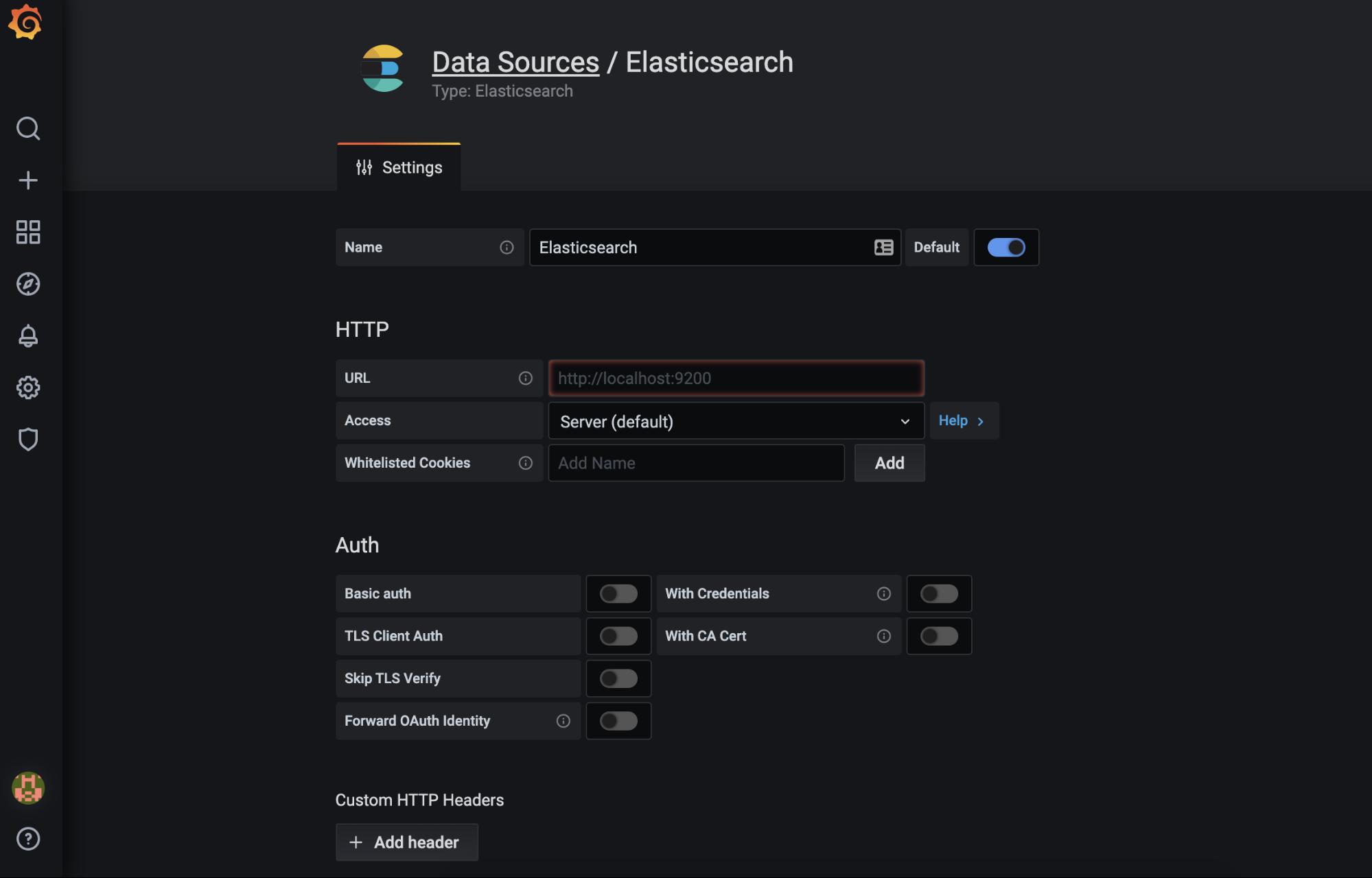 The official Grafana Elasticsearch plugin